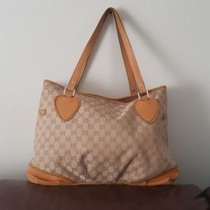 Gucci Monogram Canvas And Leather Tote Bag